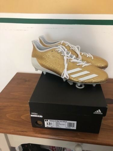 Adidas Adizero 5-Star 6.0 Football Cleats Gold White Snakeskin Size 13.5