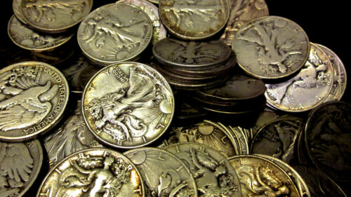 Circulated Half Dollar! 1916-1947 ~**1 US Coin**~ Silver Walking Liberty Avg
