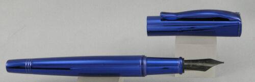 Monteverde Impressa Blue w// Blue Trim Fountain Pen New Broad Nib