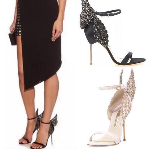 Donna High Heel Stilettos Roma Summer Butterfly Ankle Strap scarpe ...