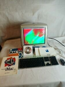 Vintage-Apple-iMac-M5521-Indigo-Blue-Computer-TESTED-with-Keyboard-and-Mouse