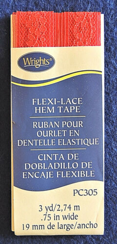 """3yd Wrights PC305 Flexi-Lace Hem Tape 100/% Nylon Large Color Variety 3//4/"""" Wide"""