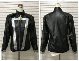 Ghost Rider Black Leather Jacket Agents Of Shield Season 4 Robbie Reyes Jacket