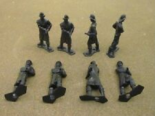 MPC Fireman MPC-300BLACK 8 70-100mm black plastic figures in 1 pose