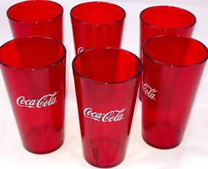 Image Is Loading New 6 E Coca Cola Restaurant Red Plastic