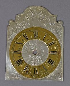 Altes-ZIFFERBLATT-Uhrenschild-Uhrenzifferblatt-f-Uhrwerk-Eisenuhr-Wanduhr-Uhr