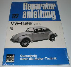 Reparaturanleitung-VW-Kaefer-1200-1300-1500-Baujahr-1964-1967-Bucheli-NEU