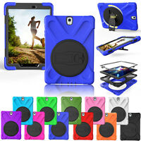 360 Kickstand Heavy Duty Rubber Armor Cover Case For Samsung Galaxy Tab S2 9.7