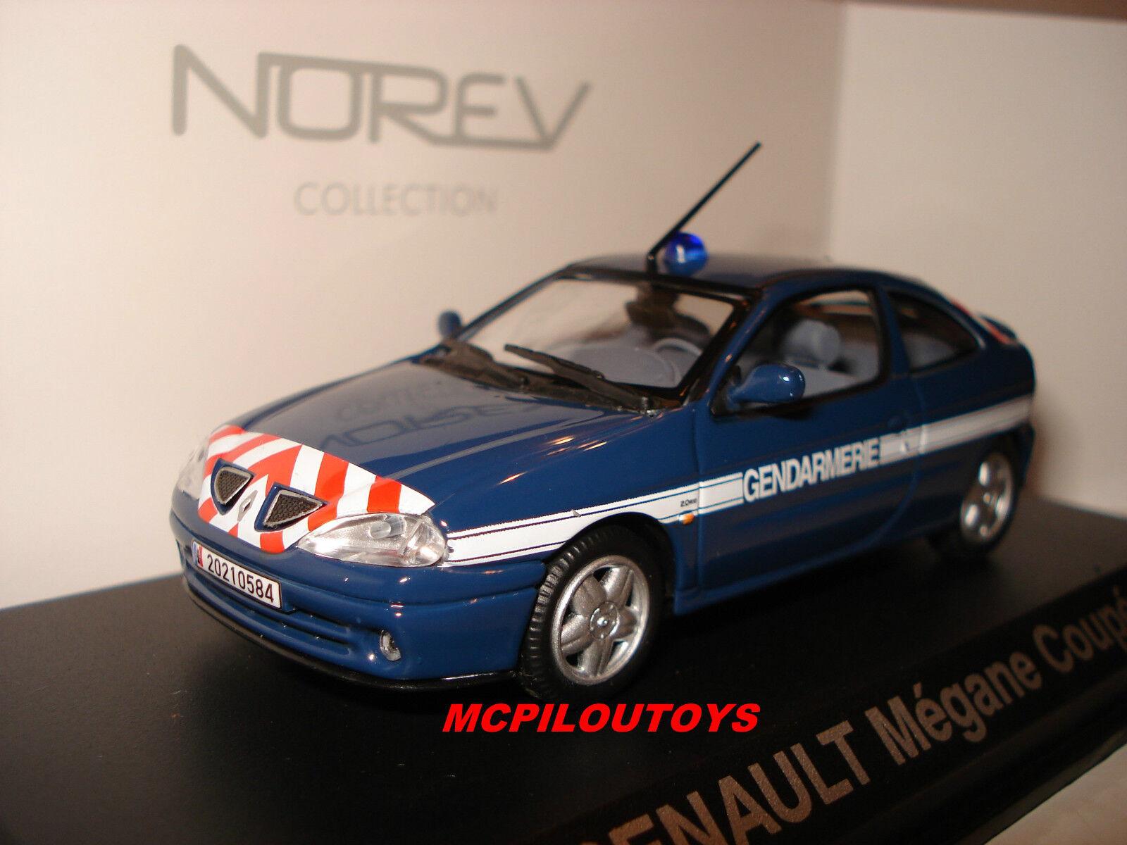 Norev Renault Megane Coupé 2001 Gendarmerie Frankreich, um die die die 1 43° 17b2ab