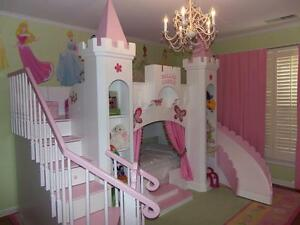 NEW CUSTOM PRINCESS BELLA 2 CASTLE BED/LOFT/BUNK INDOOR PLAYHOUSE DREAM  CASTLE | EBay