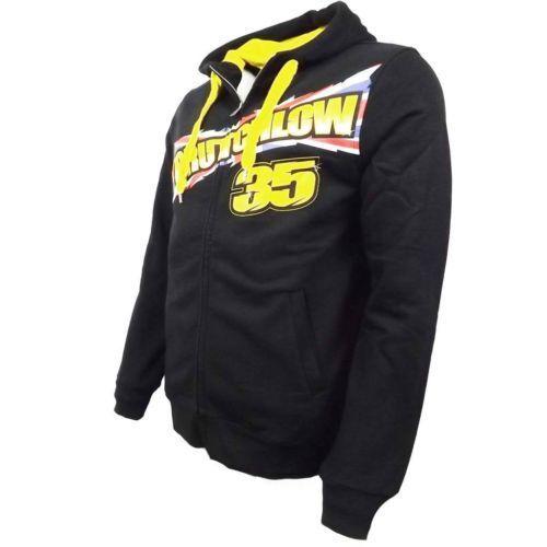 CAL Crutchlow 35 Bandiera UK Nero Zip Con Cappuccio//Felpa Con Cappuccio Ufficiale MotoGP MERCHANDISE