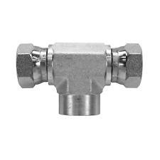 1602 08 06 06 Hydraulic Fitting 12 Female Pipe X 38 Female Pipe Swivel Tee