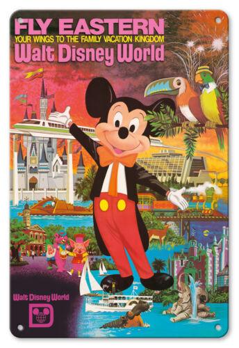 Walt Disney World Eastern Airlines 8in x 12in Vintage Metal Sign Orlando
