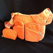 Lug Sidekick Excursion Pack Crossbody Purse Bag Waist Pack Orange