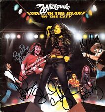WHITESNAKE Live in Heart of City LP David Coverdale DEEP PURPLE Autograph SIGNED