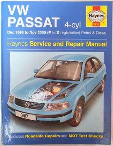 Details about Volkswagen VW Passat 4-cyl (Petrol & Diesel) Haynes Workshop  Manual 1996-2000