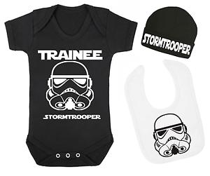 Stagiaire Stormtrooper Star Wars Inspiré Baby Gilet Bonnet Et Bib Set Bébé Cadeaux
