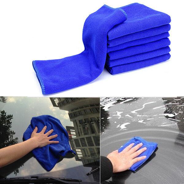 6PCS Microfiber Absorbent Multi-function Towel Car Care Clean Wash Polish Towel