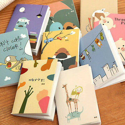 2pcs Mini Diary Planner Journal Scheduler Agenda Cartoon Notebook Organizer Memo