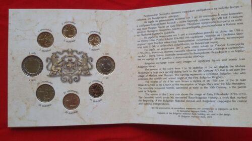 8-Coin Set Uncirculated Bulgarian National Bank 1,2,5,10,20,50 stotinki//lv