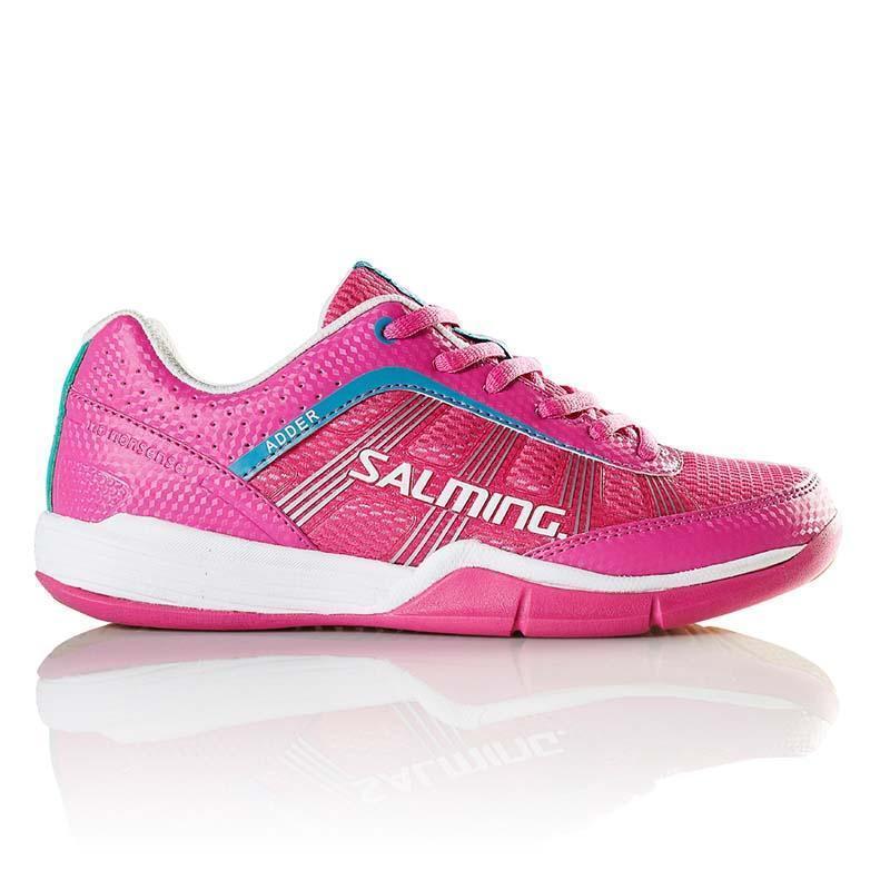 Salming Adder Womannens Indor Court schoen (roze)- Squash, Badminton- Reg  200