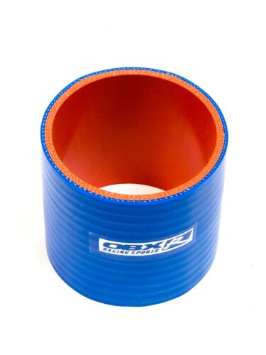 """Blue Universal Reinforced Silicone Coupler 3.0/"""" Straight by OBX-R"""