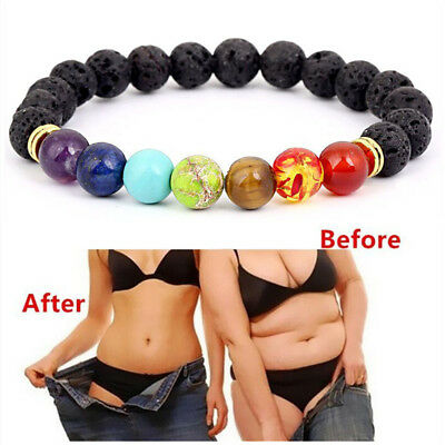 7 Chakra Healing Balance Beads Buddha Bless Lose Weight Women Bracelet Natural Ebay