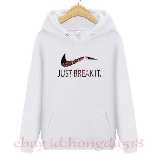Mens Womens Hoodie Coat Casual Hip-hop Skateboard Just Breaking It Sweatshirts