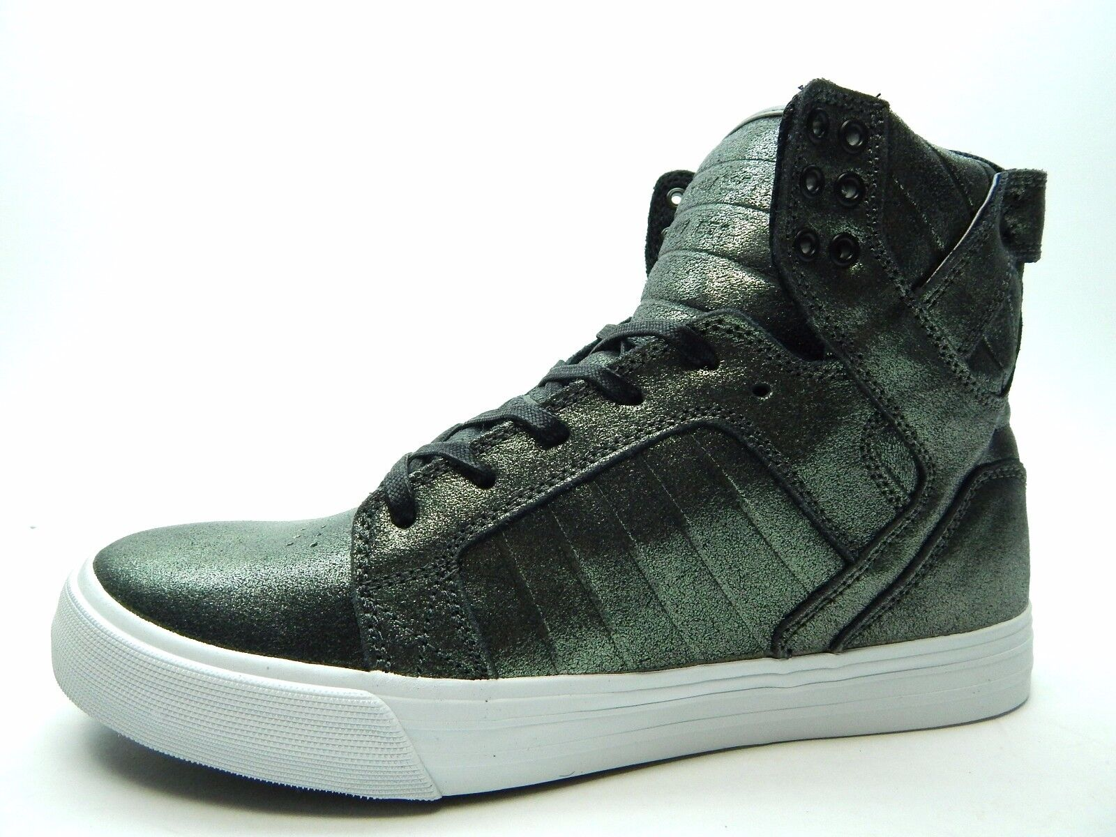 SUPRA SKYTOP PEWTER METALIC WHITE Uomo SHOES SIZE 8.5 TO 14  S18259