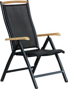 premium hochlehner diplomat schwarz teak klappbar gartenstuhl klappstuhl m bel ebay. Black Bedroom Furniture Sets. Home Design Ideas