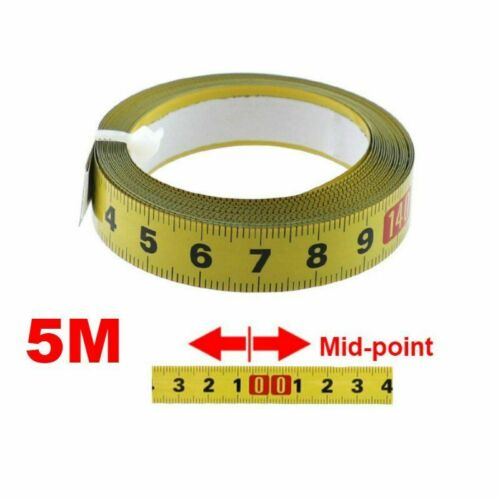 Metric Miter Track Tape Measure Steel Self Adhesive Scale Ruler 5M Router Table