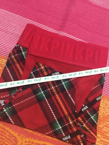 Details about  /NWT Victorias Secret PINK Red Plaid Cheekster Panty Low Rise Size M NWT