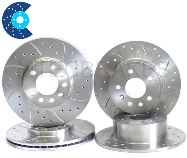 Corolla Verso Grooved Drilled Grooved Brake Discs REAR