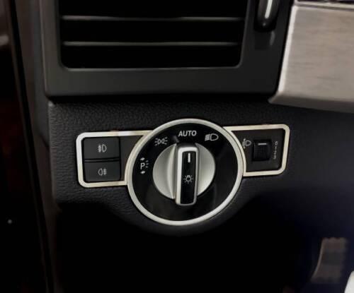 D Mercedes X204 GLK Chrom Rahmen für Lichtschalter - Edelstahl poliert