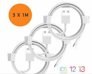 Lightning Kabel 3x Ladekabel für Apple iPhone Original 6 7 8 11 X Xr Xs Max Ipad