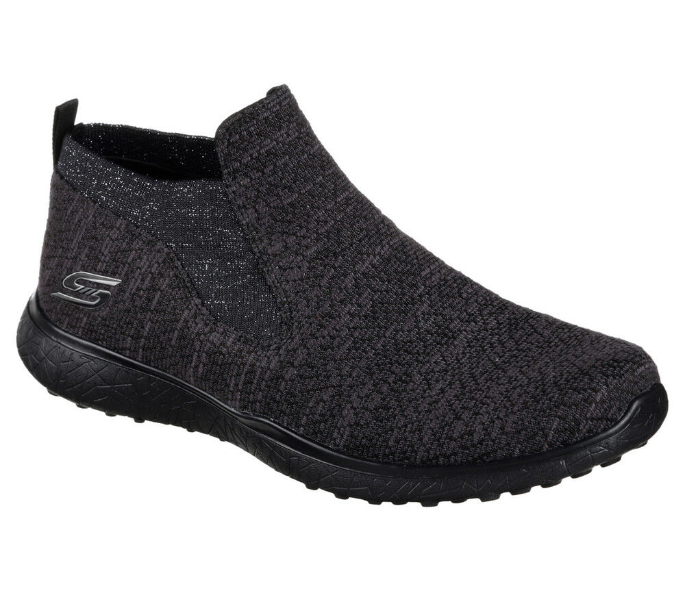 NOUVEAU NOUVEAU NOUVEAU SKECHERS Femmes Baskets Slip on Casual Knit Microburst-Imagination Noir 2108d4