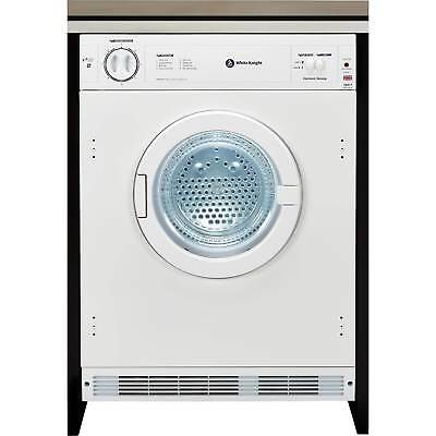 White Knight C8317WV Intergrated 7Kg Sensing Vented Tumble Dryer in White