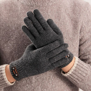 NE-CW-Winter-Men-Fleece-Lining-Thicken-Warm-Touch-Screen-Knitted-Driving-Glove