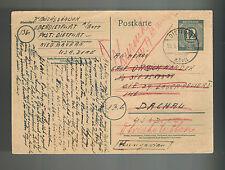 1947 Germany Dr Sandor Buzas Dachau War Criminal Detainee Camp Postcard Cover