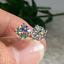 2Ct-Round-Cut-Moissanite-Diamond-Solitaire-Stud-Earrings-14K-White-Gold-Finish thumbnail 1