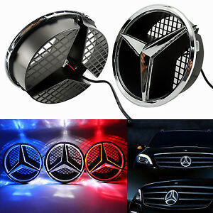 Sport front grille star emblem for mercedes benz 2006 2013 for Mercedes benz glowing star