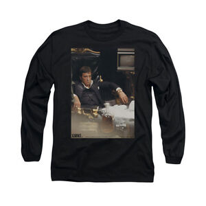 SCARFACE-SIT-BACK-Licensed-Adult-Men-039-s-Long-Sleeve-Graphic-Tee-Shirt-SM-3XL
