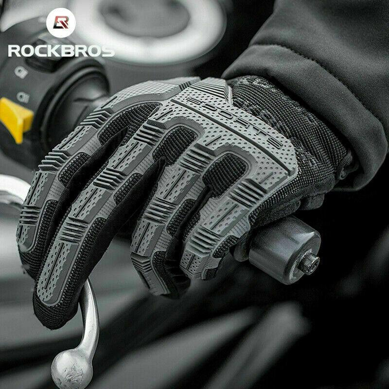 RockBros Autumn Non-slip Touch Screen Full Finger Gloves For Motorcycle Bike