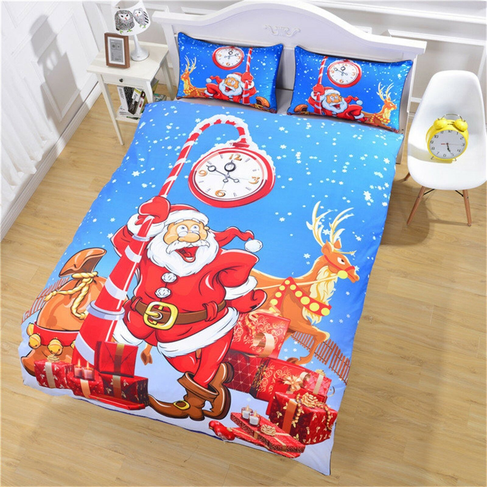 3D Christmas Xmas 483 Bed Pillowcases Quilt Duvet Cover Set Single Queen King AU