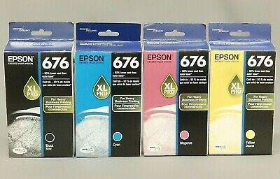 Epson Empty 676xl Ink Cartridges 4 Lot T676xl120 T676xl220 T676xl320 T676xl420
