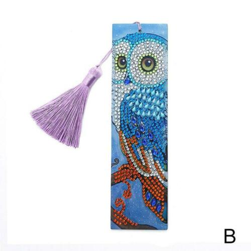 DIY Butterfly Special Shaped Diamond Painting Book Mark Leather Bookmark+Tassel