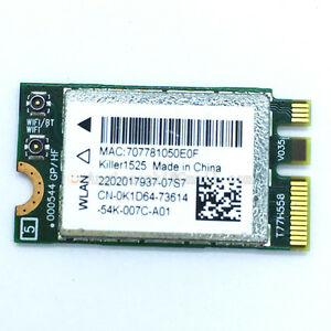 Details about Bigfoot networks Killer 1525 AC WIFI WLAN CARD+Bluetooth  K1D64 Atheros QCNFA34AC