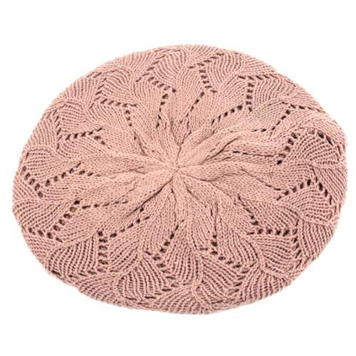 Pop Women/'s Fashion Knitted Beret Crochet Beanie 802HB