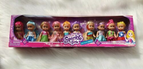 Fairy 10 Mini Dolls Little Friends Collection Funville Sparkle Girls Princess