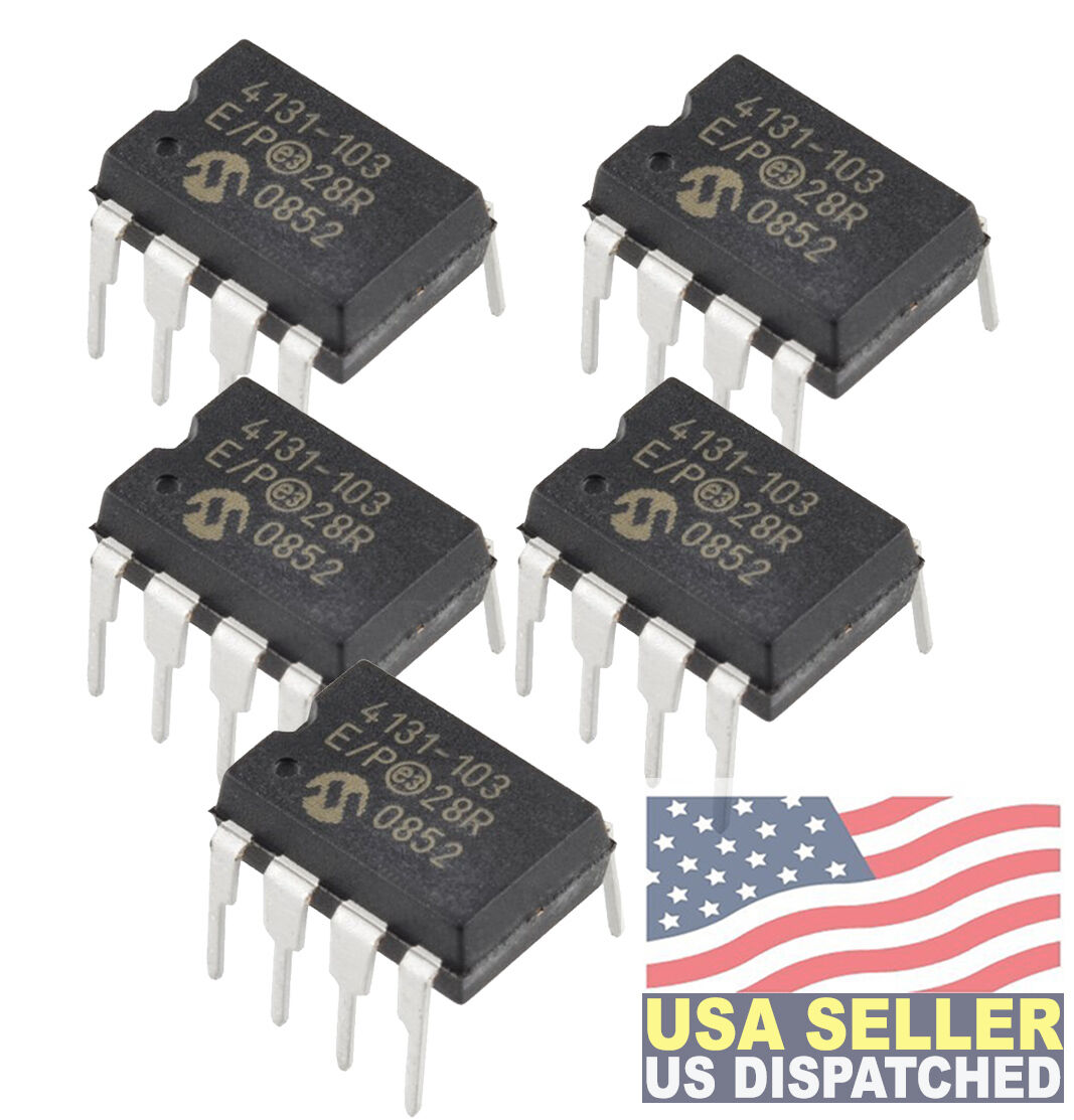 3 pcs MCP4161-103E//P  Microchip  Digital Potenziometer  10K  SPI DIP8  NEW  #BP